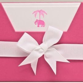 Note Cards - Pink Elephant