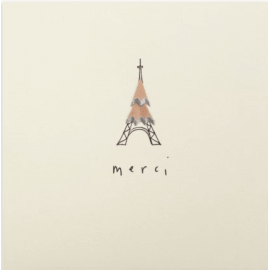 Thank you Merci Pencil Shavings Card