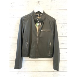 Carli Leather Jacket - Dark Green