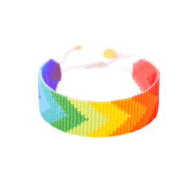 Rainbow Beaded Bracelet - Forward