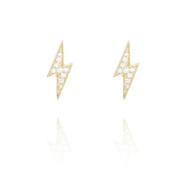 LIGHTNING BOLT STUD - Gold - Single