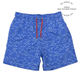 Men's Swim Shorts - Unda Seagull Blue/White