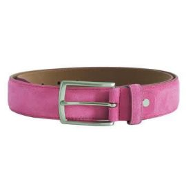 PAPAVERO Suede Leather Belt - Pink