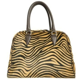 MIMOSA Handbag - Tiger Brown Gold
