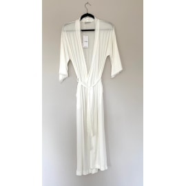 Long Dressing Gown - Cream