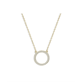CIRCLE PENDANT NECKLACE - Gold