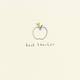 Teachers Apple Pencil Shavings Card