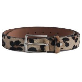 Ocelot Print Belt - Brown & Black
