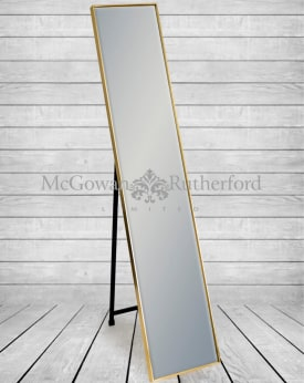 Gold Framed Arden Rectangular Cheval Dressing Mirror