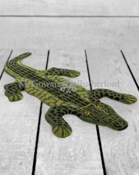 "Hand Tufted Small Alligator ""Skin"" Woollen Rug"