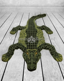 "Hand Tufted Extra Large Alligator ""Skin"" Woollen Rug"