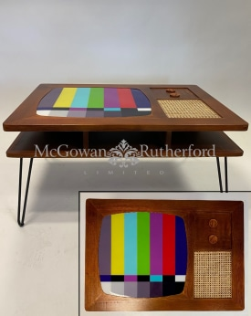 Solid Wood Retro Television Coffee Table