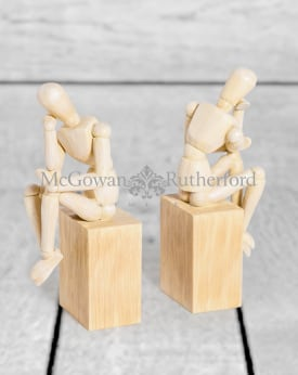 "Set of 2 ""Thinker"" Wooden Effect Model Man Bookends"