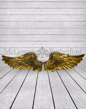 Antique Gold Pair of Angel Wings