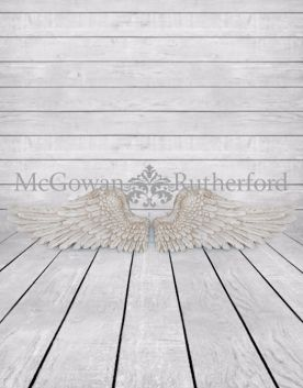 Antique White Pair of Angel Wings