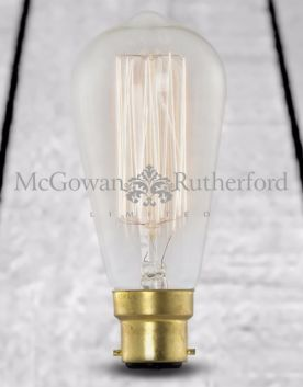 Retro Squirrel Cage/Tear Drop Bulb (B22 40w)