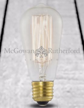 Retro Squirrel Cage/Tear Drop Bulb (E27 40w)
