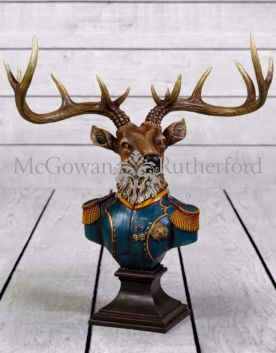 Large Gentry Stag Bust on Square Base