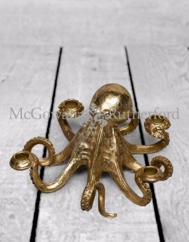 Gold Octopus Candle Stick