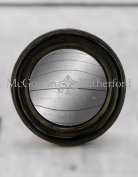 Black Thin Framed Extra Small Convex Mirror