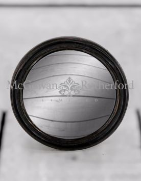 Black Thin Framed Small Convex Mirror
