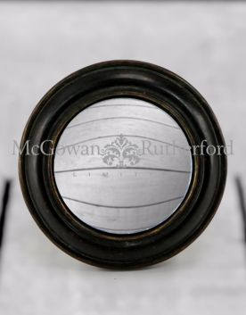 Black Rounded Framed Small Convex Mirror