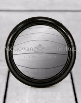 Black Rounded Framed Large Convex Mirror