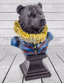 Gentry Bear Bust on Square Base