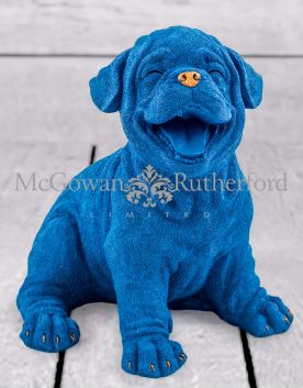 Royal Blue with Gold Details Laughing Puppy