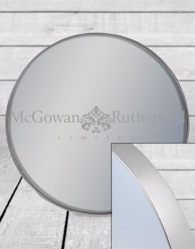 Small Round Silver Framed Arden Wall Mirror