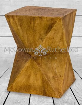 Wood Effect Stool/ Side Table