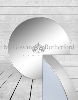 Large Round Silver Framed Arden Wall Mirror