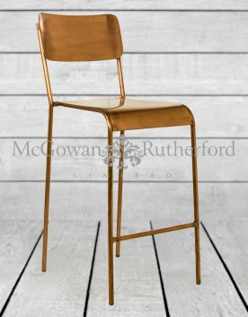 Rustic Copper Bar Stool