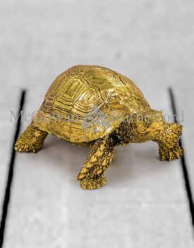 Small Gold Tortoise Figure