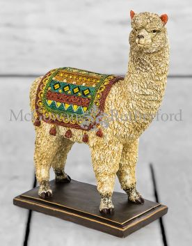 Large Alpaca Figure on Black Base