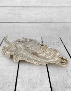 Extra Large Decorative Nickel Plated Aluminium Leaf Platter