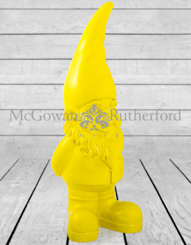 Giant Bright Yellow Gnome Figure