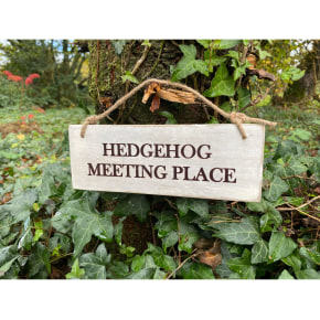 Garden Sign - Hedgehog Meeting Place NEW