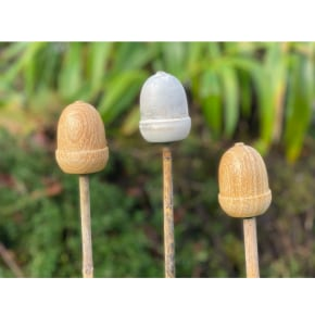 Acorn Cane Toppers (set of 3) AVAILABLE NOW