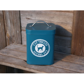 Cat Treat Tin - Teal