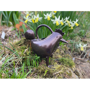 Hen Watering Can - Bronze Finish