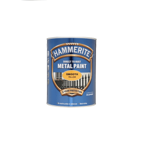 Hammerite Smooth Direct to Rust Metal Paint 5L - Yellow