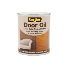Rustins Door Oil Clear Satin 750ml