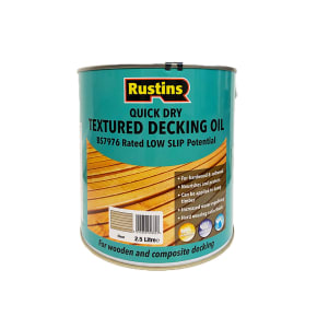 Rustins Textured Decking Oil Clear 2.5L