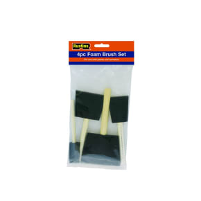 Rustins Foam Brushes (Set of 4)