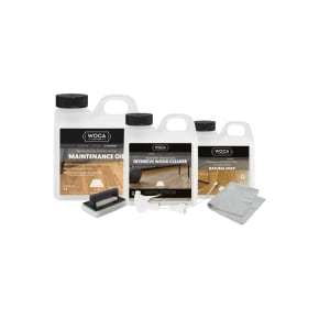 WOCA Wood Floor Maintenance Kit Natural
