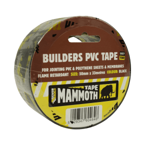 Everbuild Builders PVC Tape Black 50mm x 50m