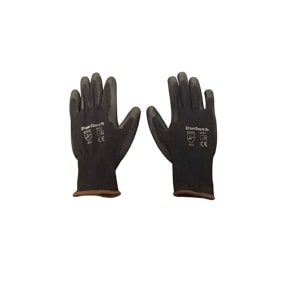 True Touch Black PU Coated Gloves