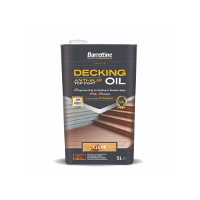 Barrettine Anti Slip Decking Oil Top Coat Clear 5L