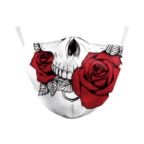Skull & Roses Reusable Face Mask